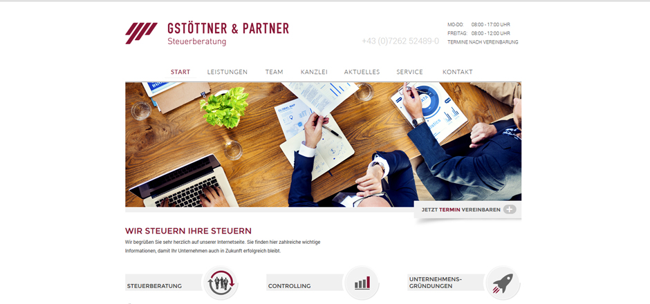 Website Gstöttner & Partner