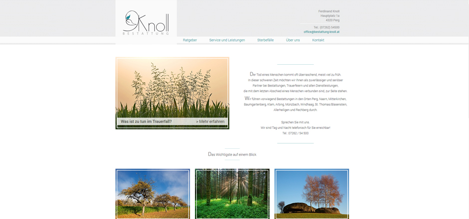 Website Bestattung Knoll